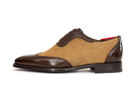 J.FitzPatrick Footwear - Rainier - Coffee Calf / Desert Canvas - LPB Last