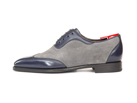 J.FitzPatrick Footwear - Rainier - Marine Blue Calf / Light Grey Suede - LPB Last