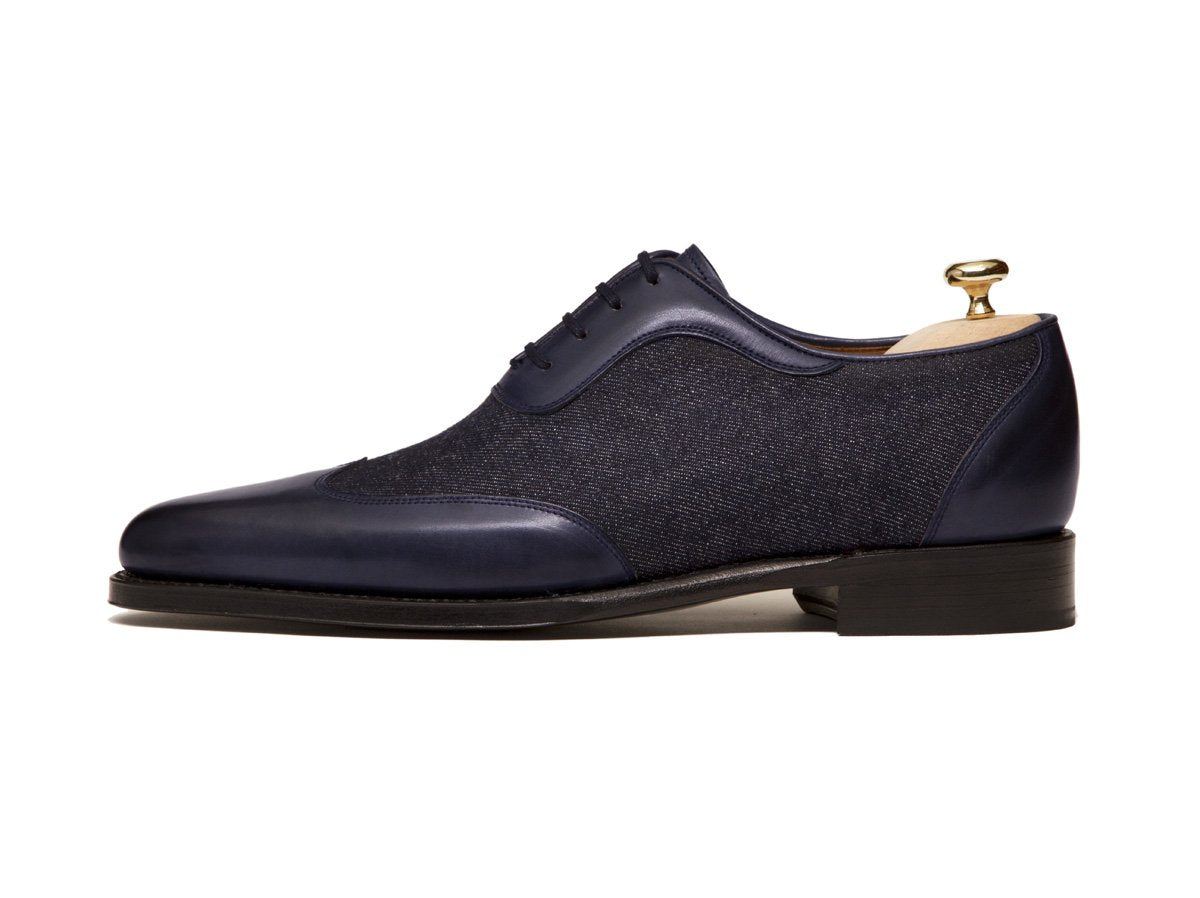 J.FitzPatrick Footwear - Rainier - Shaded Navy Calf / Denim - JFK Last