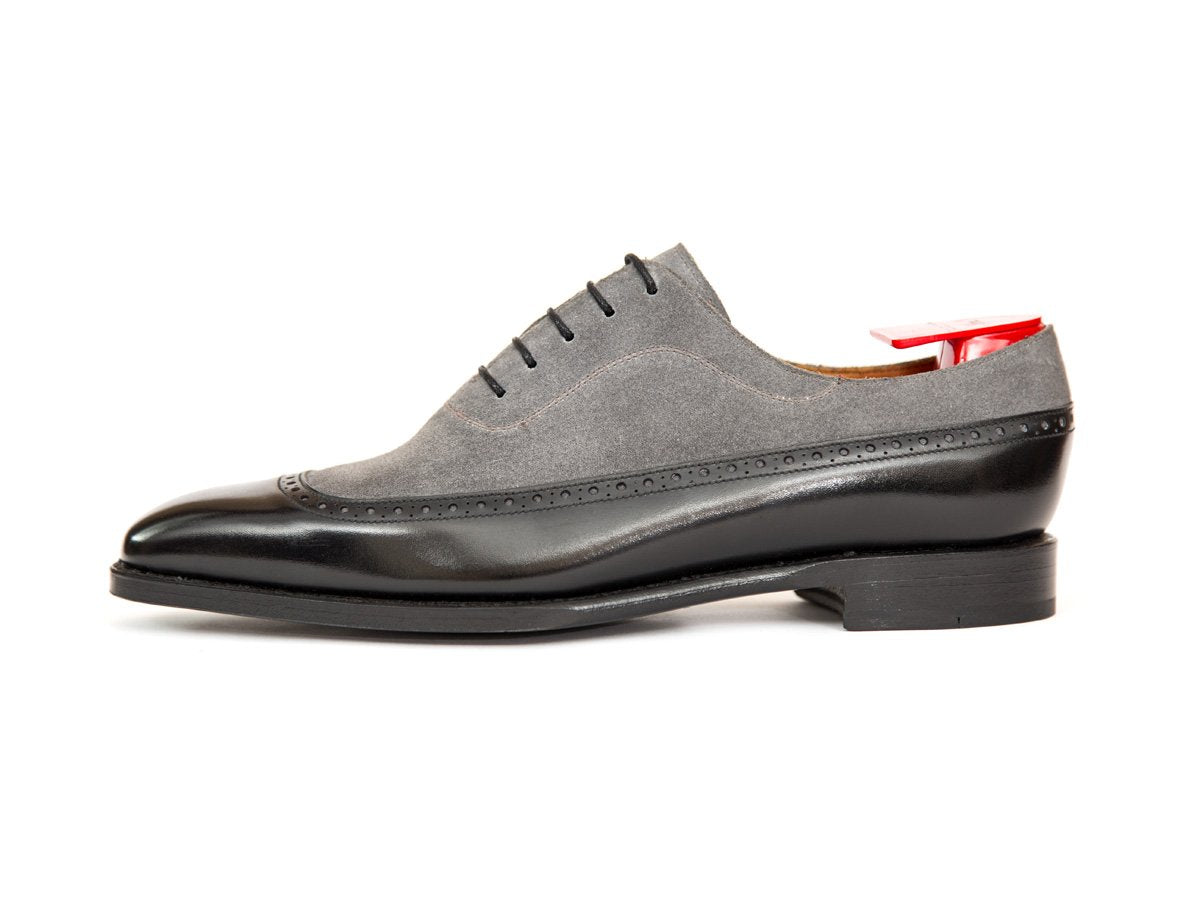 J.FitzPatrick Footwear - Sebastien - Black Calf / Light Grey Suede - LPB Last