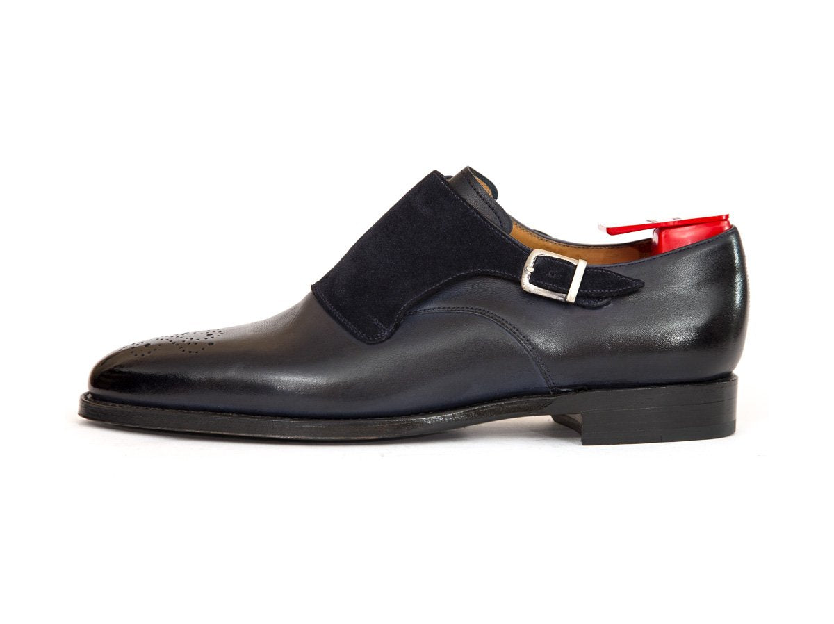 J.FitzPatrick Footwear - Corliss - Shaded Navy / Navy Suede - TMG Last