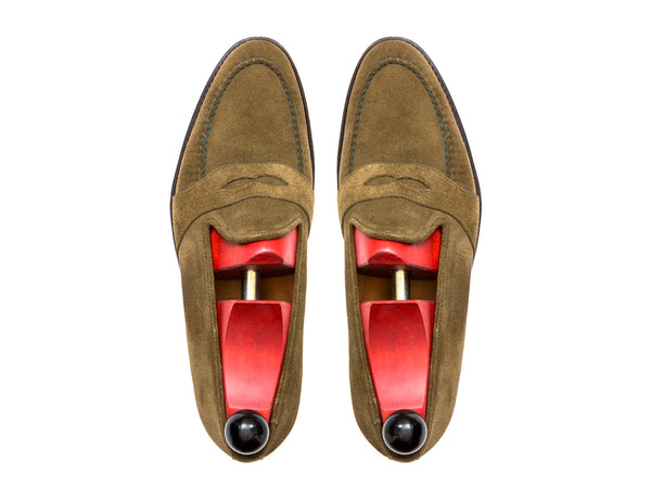 Madison - MTO - Olive Suede - TMG Last - Single Leather Sole