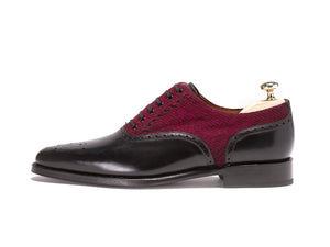 J.FitzPatrick Footwear - Wallingford - Black Calf / Red Poulsbo - JKF Last