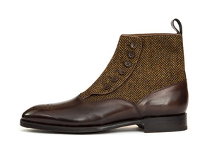 J.FitzPatrick Footwear - Westlake - Antique Brown Calf / Gold Tweed - NGT Last