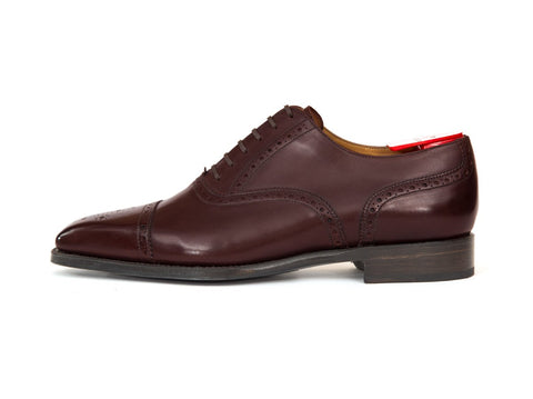 J.FitzPatrick Footwear - Windermere - Shaded Merlot Calf - MGF Last