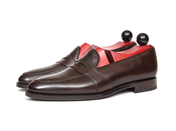 J.FitzPatrick Footwear - Madison - Dark Brown Museum Calf / Brown Soft Grain - TMG Last