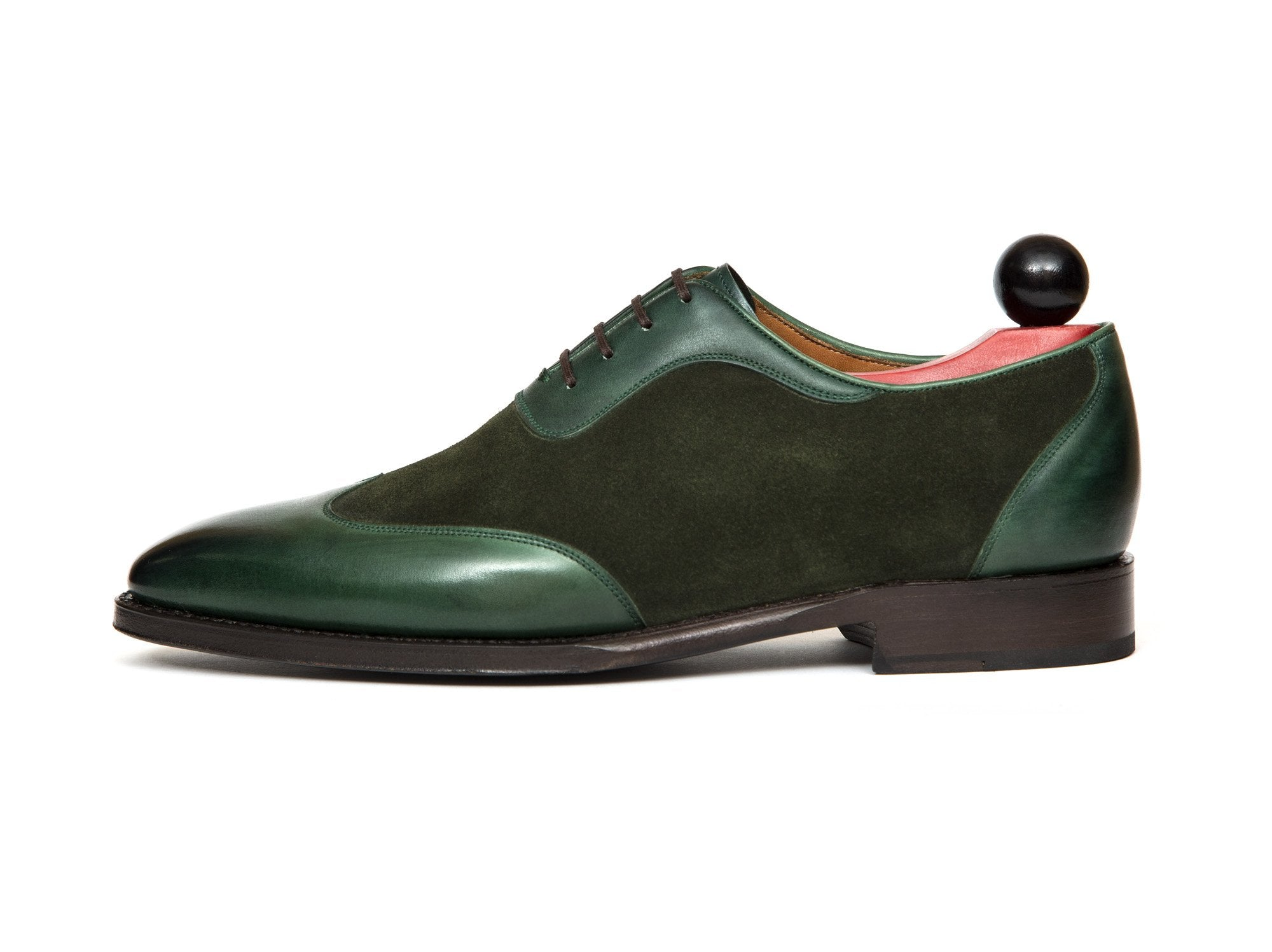 J.FitzPatrick Footwear - Rainier - Forest Green Calf / Bottle Green Suede - LPB Last