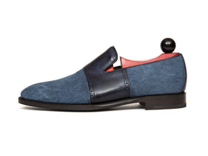 J.FitzPatrick Footwear - Shoreline - Blue Canvas / Navy Museum Calf - MGF Last