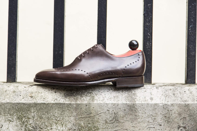 J.FitzPatrick Footwear - Tony ll - Dark Brown Museum Calf