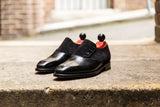 Aurora - MTO - Black Calf / Black Suede - LPB Last - Single Leather Sole