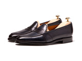 Madison - MTO - Shaded Navy Calf - TMG Last - Single Leather Sole