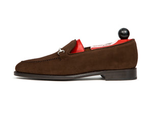 Pike - MTO - Dark Brown Suede - TMG Last - Single Leather Sole