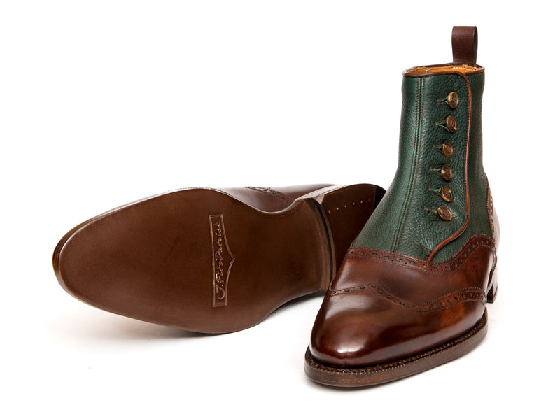 Grandview - MTO - Walnut Museum Calf / Forest Soft Grain - NGT Last - Single Leather Sole