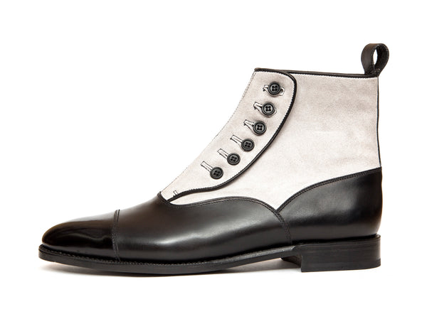 Bellevue - MTO - Black Calf / Pearl Grey Suede - TMG Last - Single Leather Sole