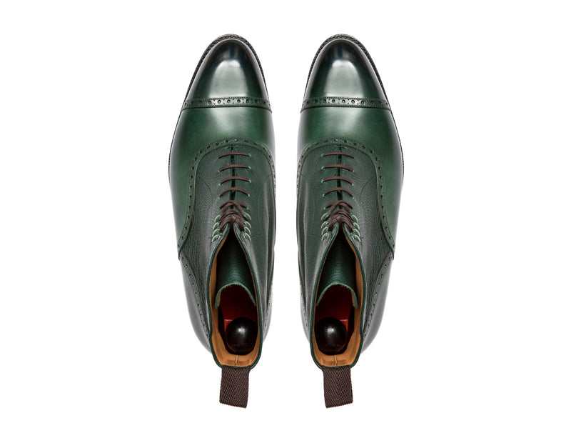 Seaview - MTO - Forest Calf / Green Soft Grain - NGT Last - Single Leather Sole