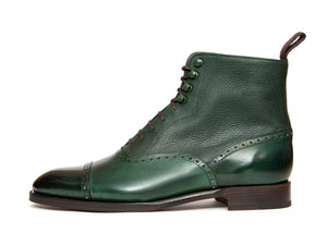 David - MTO - Forest Calf / Green Soft Grain
