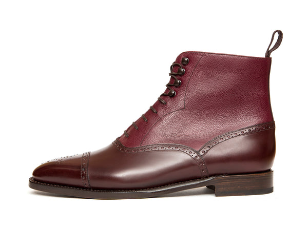 David - MTO - Deep Merlot Calf / Raspberry Soft Grain - LPB Last - Single Leather Sole