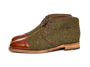 Des Moines - Gold Museum Calf / Mustard Medley Tweed GMTO