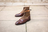David - MTO - Walnut Museum Calf / Gold Tweed - SEA Last - Double City Rubber Sole