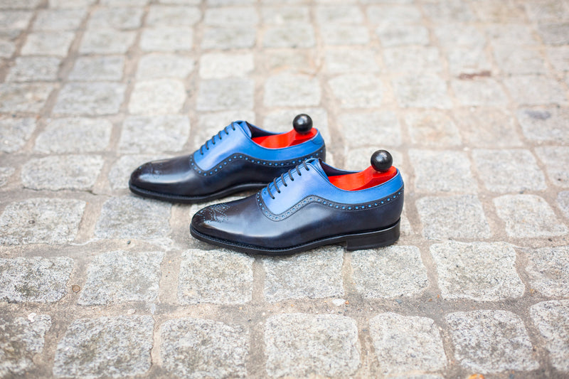 Roosevelt - MTO - Navy Museum Calf / Sky Blue Calf - NGT Last - Single Leather Sole