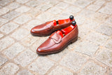 Hawthorne - MTO - Gold Museum Calf - TMG Last - Single Leather Sole