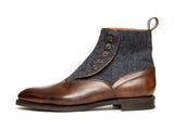 Westlake - MTO - Copper Museum Calf / Blue Tweed - NGT Last - City Rubber Sole