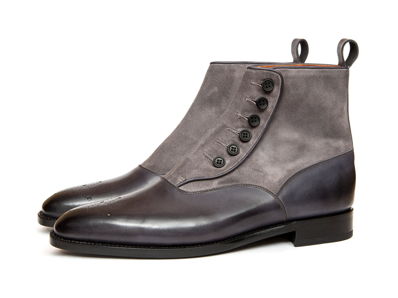 Westlake - MTO - Shaded Grey Calf / Mid Grey Suede - LPB Last - Single Leather Sole