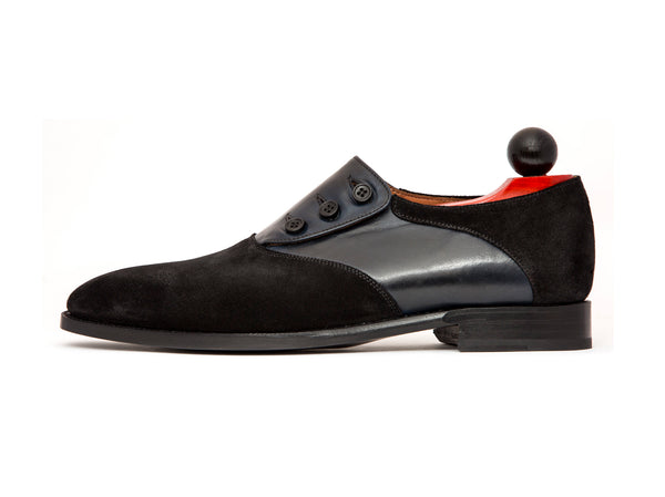 Aurora - MTO - Black Suede / Black Calf - LPB Last - Single Leather Sole
