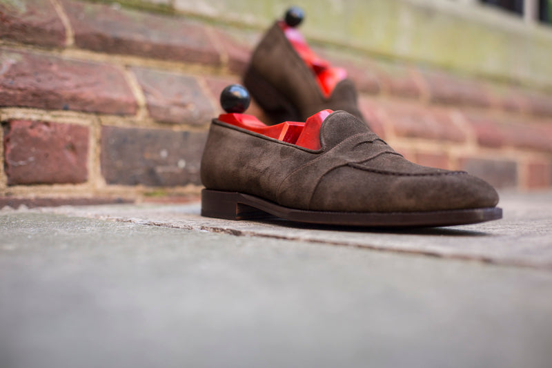 Madison - MTO - Moss Suede - LPB Last - Single Leather Sole
