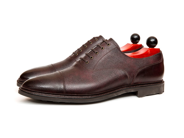 Magnolia - MTO - Plum Museum Grain - TMG Last - Rugged Rubber Sole
