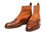 Puyallup - MTO - Gold Museum Calf / Rust Suede - NGT Last - Single Leather Sole