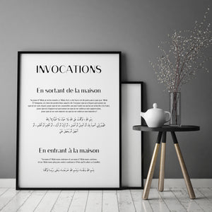 POSTER INVOCATION MAISON
