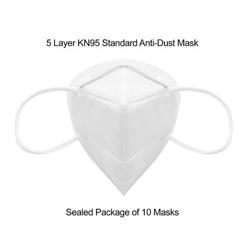 5 Layer KN95 Anti-Dust Mask - Package of 10 Masks - Harrow Sports