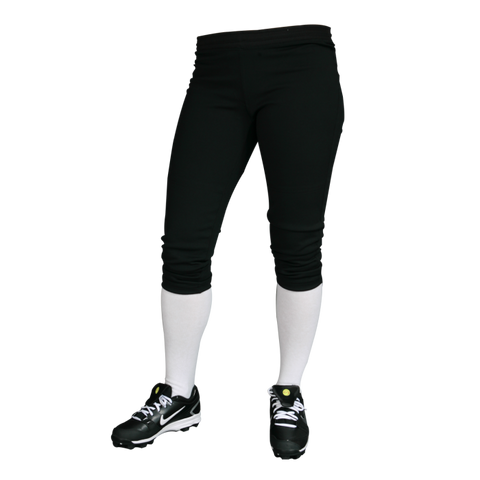 Women's Nylon Rib Knit Waist Pants