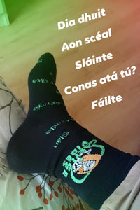Irish Language socks.