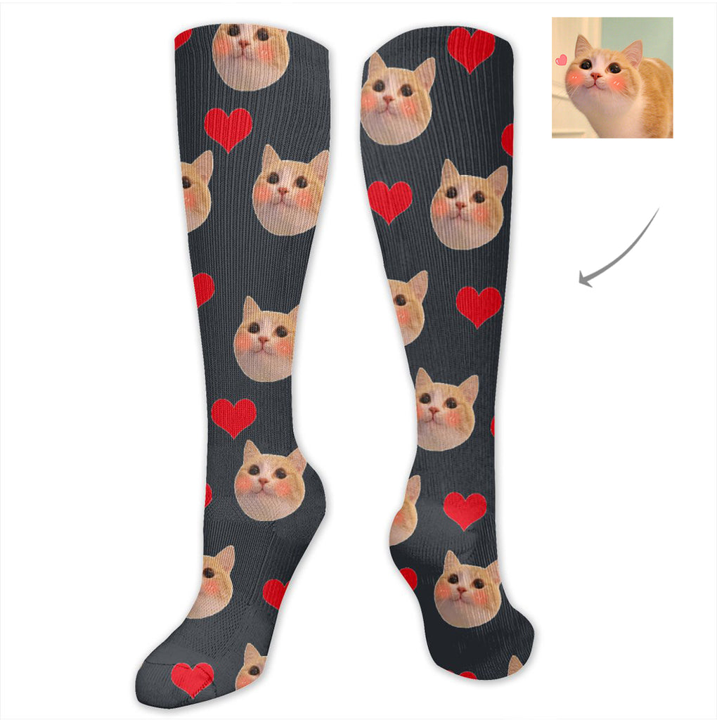 Custom Cat Long Socks