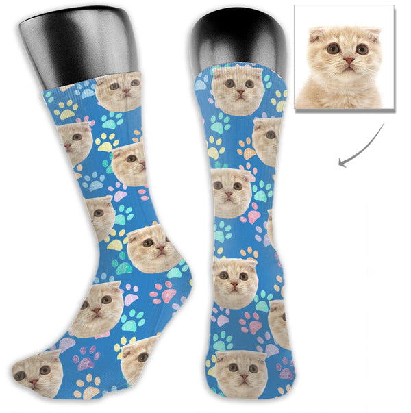 Custom Pet Cat Cute Socks - Lotjog