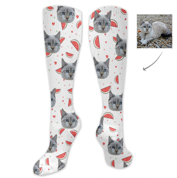 Custom Pet Cat Long Socks