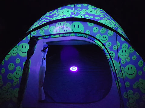 double layer, light up tent
