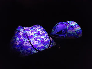 Graffiti Night Glow Tent + Tent Finder