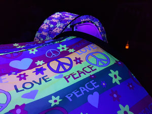 Love and Peace Night Glow Tent + Tent Finder