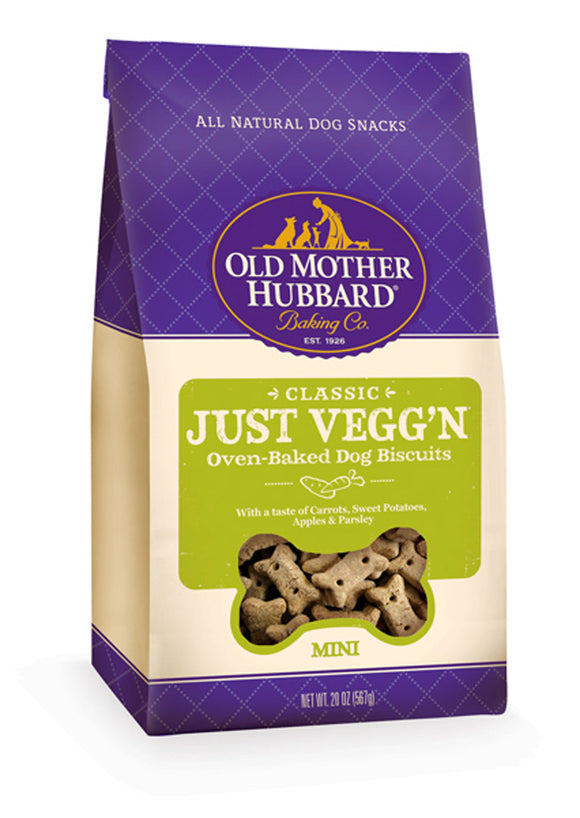 Old Mother Hubbard Crunchy Classic Natural Just VeggN Mini Biscuits Dog Treats