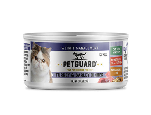 Petguard Turkey Barley Weight Management Dinner Canned Cat Food