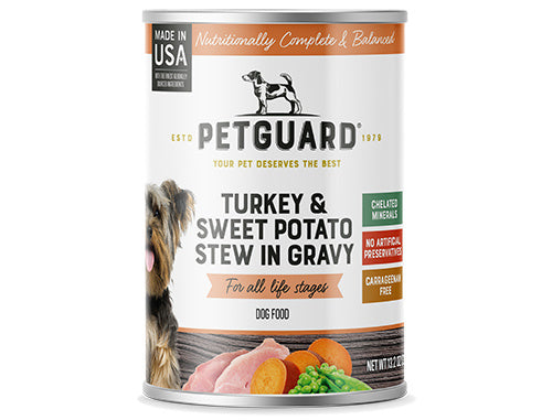 Petguard Turkey & Sweet Potato Stew In Gravy Canned Dog Food