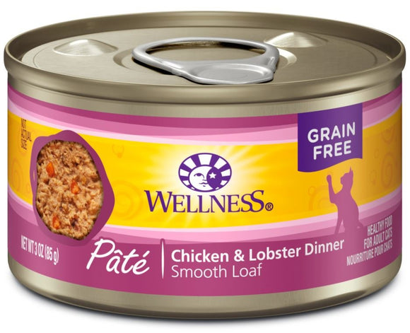 Wellness Complete Health Natural Grain Free Chicken and Lobster Pate Wet Canned Cat Food