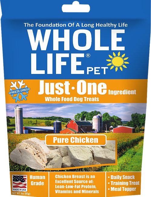 Whole Life Just One Grain Free Pure Chicken Freeze Dried Dog Treats