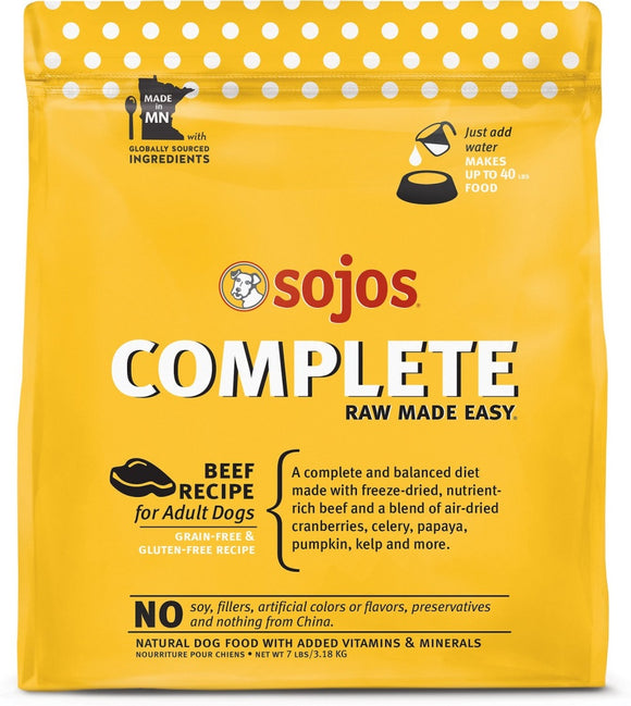 Sojos Complete Beef Dog Food Mix