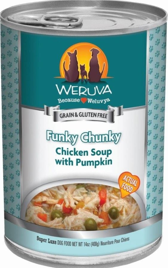 Weruva Funky Chunky Chicken Soup Canned Dog Food