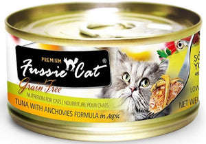 Fussie Cat Premium Tuna with Anchovies Formula in Aspic Canned Food
