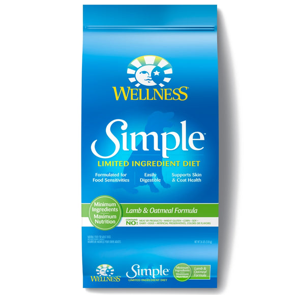 Wellness Simple Natural Limited Ingredient Diet Lamb and Oatmeal Recipe Dry Dog Food